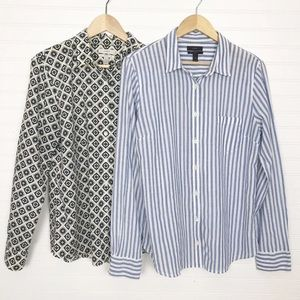 Lot of 2 J Crew Boy / Perfect Shirts Button Up 14